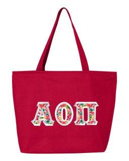 $19.99 Alpha Omicron Pi Custom Satin Stitch Tote Bag