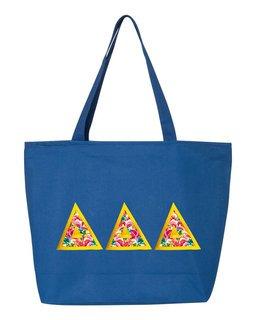 $19.99 Delta Delta Delta Custom Satin Stitch Tote Bag