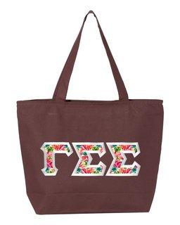 $19.99 Gamma Sigma Sigma Custom Satin Stitch Tote Bag