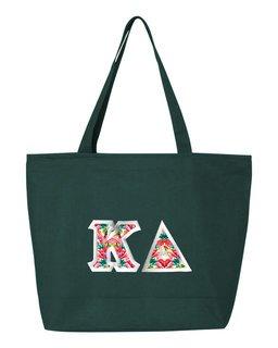 $19.99 Kappa Delta Custom Satin Stitch Tote Bag