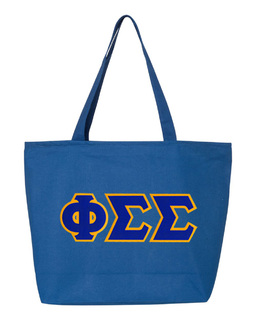 DISCOUNT- Phi Sigma Sigma Lettered Tote Bag