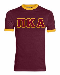 DISCOUNT- Pi Kappa Alpha Lettered Ringer Shirt