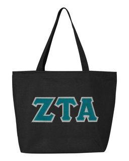 DISCOUNT- Zeta Tau Alpha Lettered Tote Bag