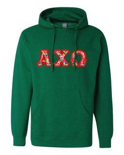 Alpha Chi Omega Custom Twill Hooded Sweatshirt