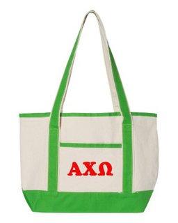 Alpha Chi Omega Sailing Tote Bag