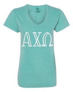 Alpha Chi Omega Comfort Colors V-Neck T-Shirt