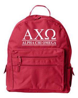 Alpha Chi Omega Custom Text Backpack