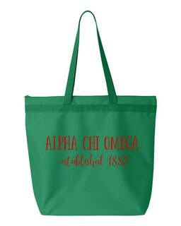 Alpha Chi Omega Established Tote bag