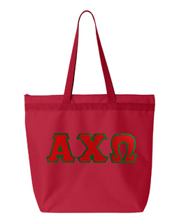 DISCOUNT-Alpha Chi Omega Lettered Game Day Tote