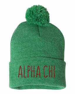 Alpha Chi Omega Mod Pom Pom Beanie