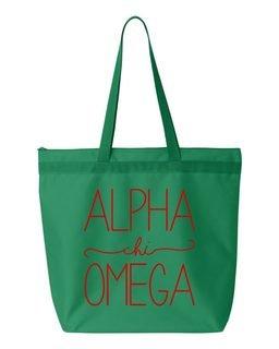 Alpha Chi Omega New Handwriting Tote Bag