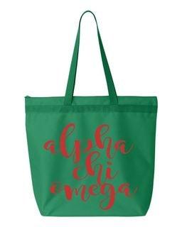 Alpha Chi Omega Mascot  Tote bag
