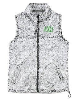 Alpha Chi Omega Smoky Grey Sherpa Vest