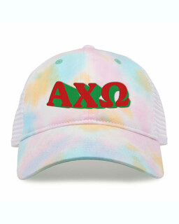 Alpha Chi Omega Sorority Sorbet Tie Dyed Twill Hat