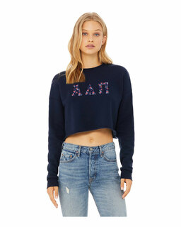 Alpha Delta Pi Bella + Canvas - Women's Cropped Crew Fleece