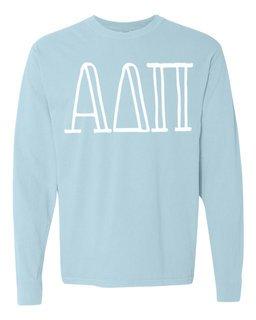 Alpha Delta Pi Comfort Colors Greek Long Sleeve T-Shirt