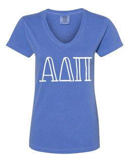 Alpha Delta Pi Comfort Colors V-Neck T-Shirt