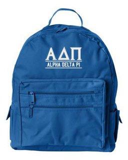 Greekgear Alpha Delta Pi Emblem Briefcase Blue