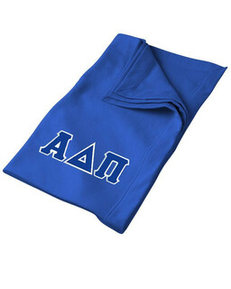 DISCOUNT-Alpha Delta Pi Lettered Twill Sweatshirt Blanket