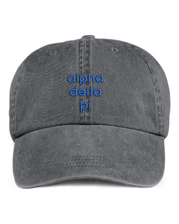 Alpha Delta Pi Stonewashed Cotton Hats