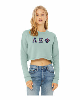 Alpha Epsilon Phi Bella + Canvas - Women's Cropped Crew Fleece
