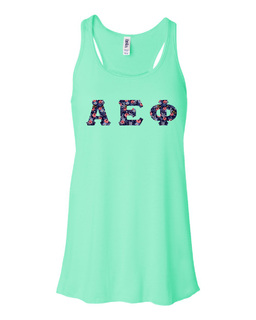Alpha Epsilon Phi Bella + Canvas - Women's Flowy Racerback Tank