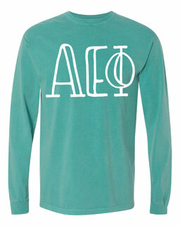 Alpha Epsilon Phi Comfort Colors Greek Long Sleeve T-Shirt