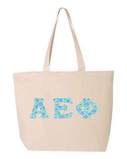 Alpha Epsilon Phi Greek Letter Zipper Tote