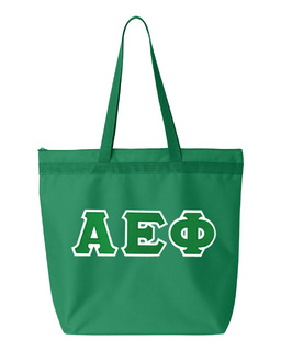 DISCOUNT-Alpha Epsilon Phi Lettered Game Day Tote