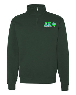 Alpha Epsilon Phi Twill Greek Lettered Quarter zip