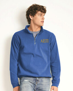 Alpha Epsilon Pi Comfort Colors Garment-Dyed Quarter Zip Sweatshirt