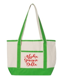 Alpha Gamma Delta Sailing Tote Bag