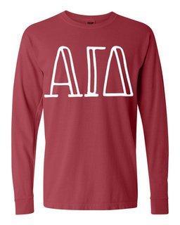 Alpha Gamma Delta Comfort Colors Greek Long Sleeve T-Shirt