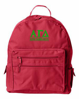 Alpha Gamma Delta Custom Text Backpack