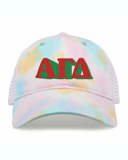 Alpha Gamma Delta Sorority Sorbet Tie Dyed Twill Hat
