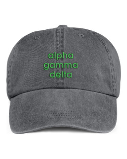 Alpha Gamma Delta Stonewashed Cotton Hats