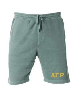Alpha Gamma Rho Pigment-Dyed Fleece Shorts