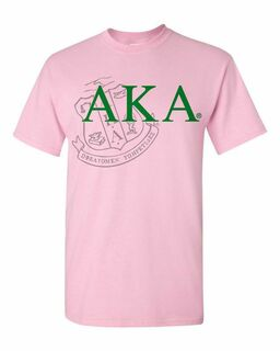 Alpha Kappa Alpha Greek Crest - Shield T-Shirt