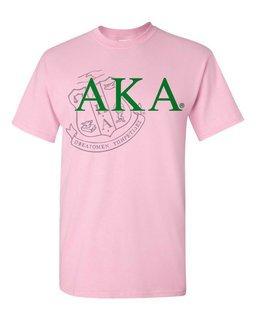 Alpha Kappa Alpha Greek Crest - Shield T-Shirt