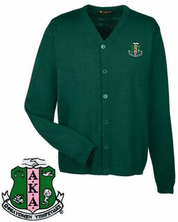 Alpha Kappa Alpha Greek Letterman Cardigan Sweater