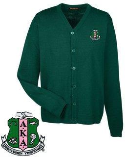 Alpha Kappa Alpha Greek Letterman Cardigan Sweater