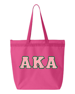 DISCOUNT-Alpha Kappa Alpha Lettered Game Day Tote
