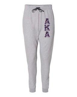 "Alpha Kappa Alpha Lettered Joggers (3"" Letters)"