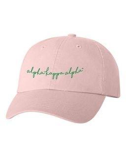 Alpha Kappa Alpha Smiling Script Greek Hat