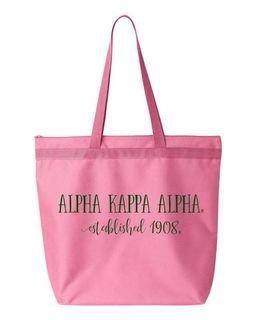 Alpha Kappa Alpha New Established Tote Bag