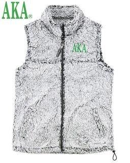 Alpha Kappa Alpha Smoky Grey Sherpa Vest