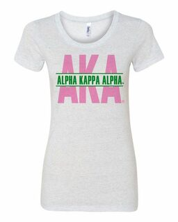 Alpha Kappa Alpha Triblend Custom Message Tees