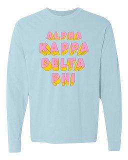 alpha Kappa Delta Phi 3Delightful Long Sleeve T-Shirt - Comfort Colors