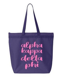 Alpha Kappa Delta Phi Script Tote Bag