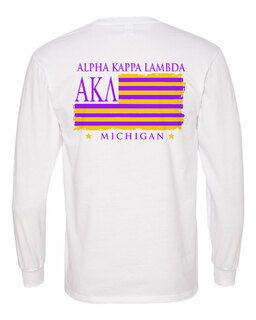 Alpha Kappa Lambda Stripes Long Sleeve T-shirt